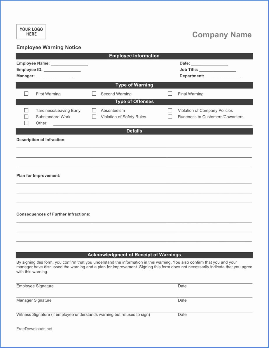 Employee Write Up forms Template Awesome Benefits Using An Employee Write Up form 88