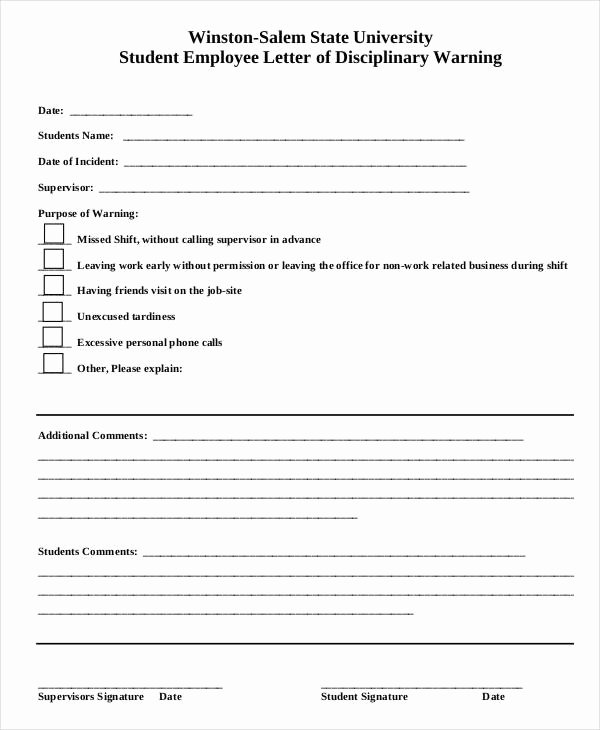 Employee Write Up forms Template New Employee Write Up form 6 Free Word Pdf Documents