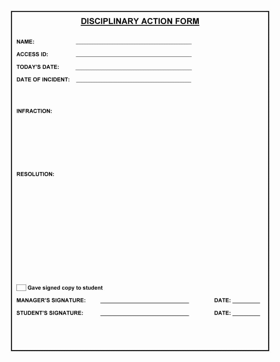 Employee Write Up forms Template Unique 46 Effective Employee Write Up forms [ Disciplinary
