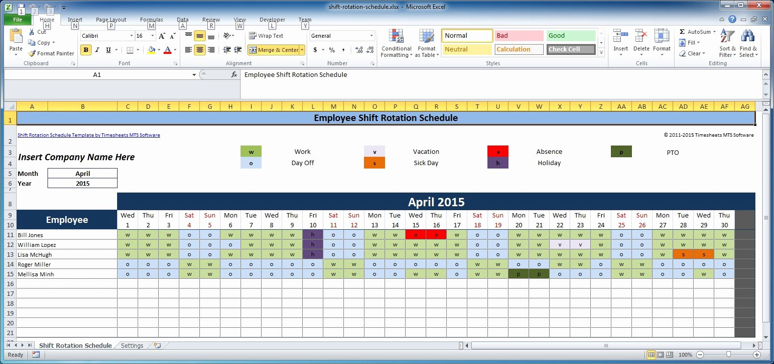 Employees Schedule Template Free Fresh Work Schedule Spreadsheet Excel within Free Employee and