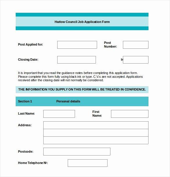 Employment Application form Template Beautiful Employment Application Templates – 10 Free Word Pdf