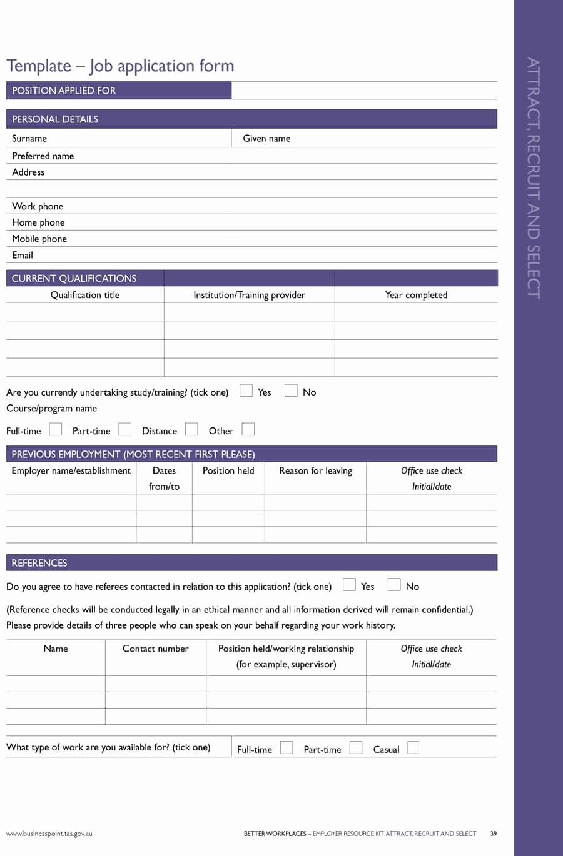 Employment Application form Template Fresh 50 Free Employment Job Application form Templates