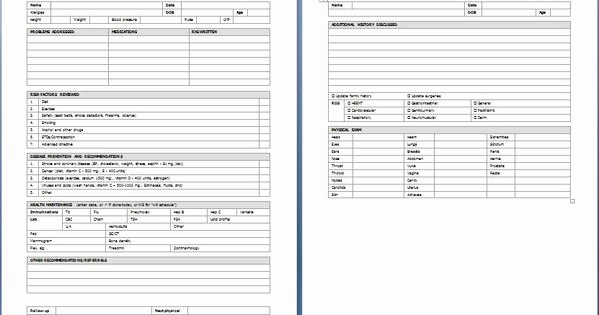 Employment Physical form Template Beautiful Yearly Physical Examination form