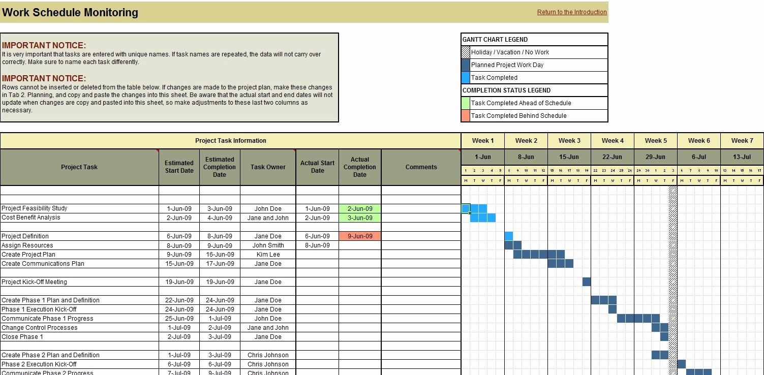 Engineering Project Plan Template Elegant Project Planning Scheduling and Monitoring Excel tool