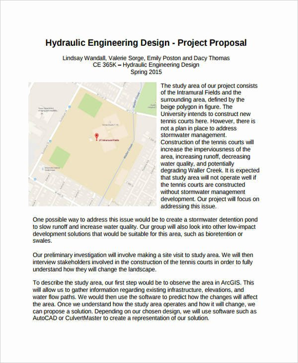 Engineering Project Plan Template Inspirational Engineering Proposal Templates 8 Free Documents In Word Pdf