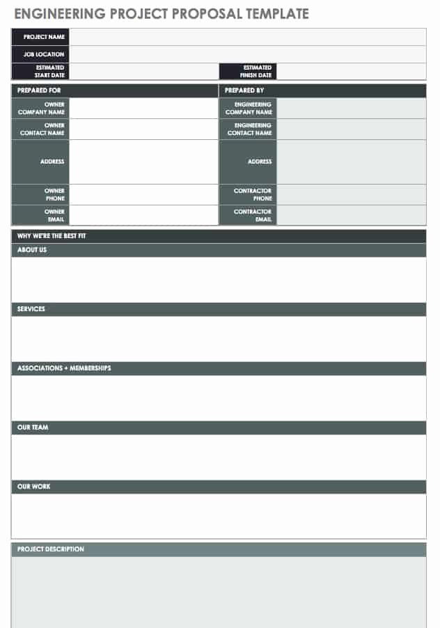 Engineering Project Plan Template New 17 Free Project Proposal Templates Tips