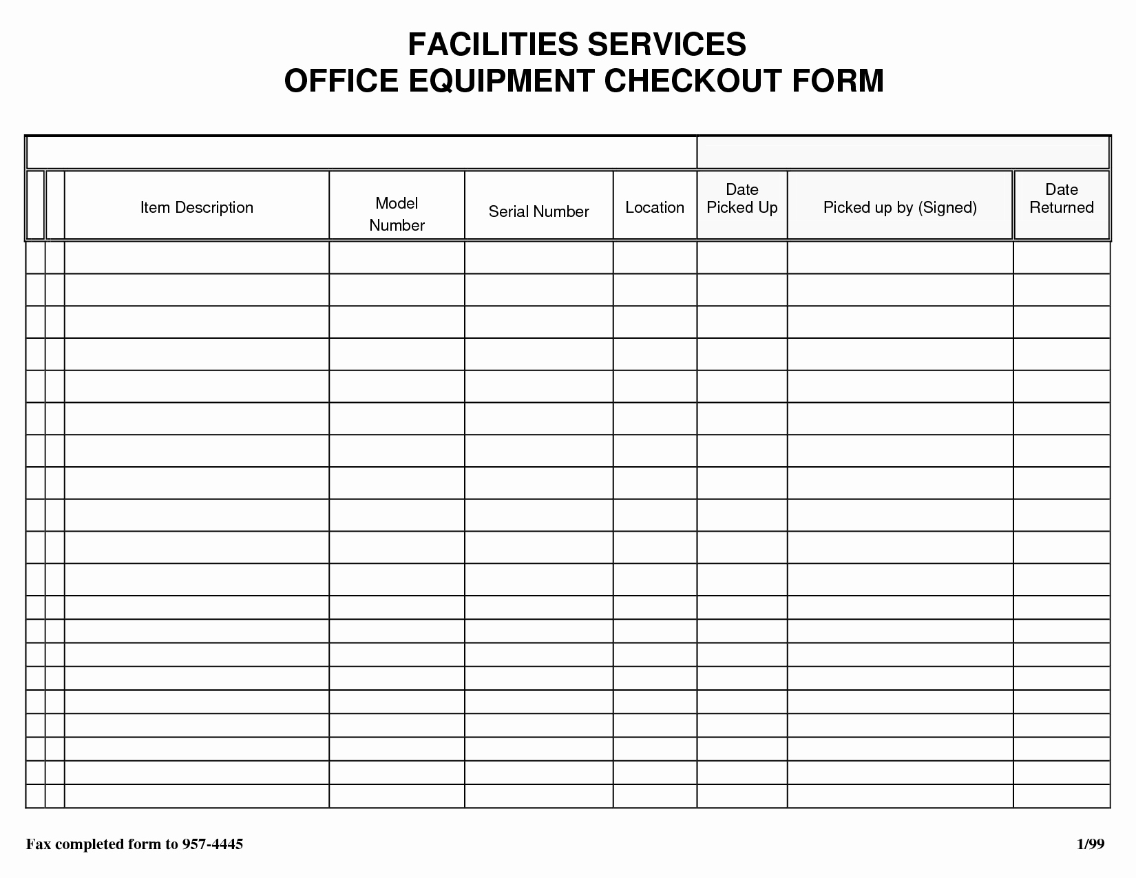 Equipment Checkout form Template Excel Best Of Best S Of Check Out form Template Jail Equipment