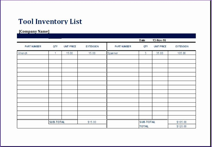 Equipment Checkout form Template Excel Lovely 10 Personal Collection Inventory Exceltemplates
