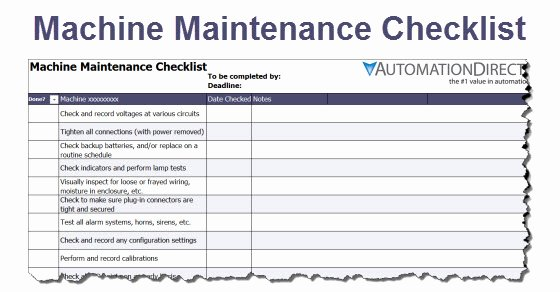 Equipment Maintenance Schedule Template Excel Beautiful Machine Maintenance Schedule Template – Planner Template Free