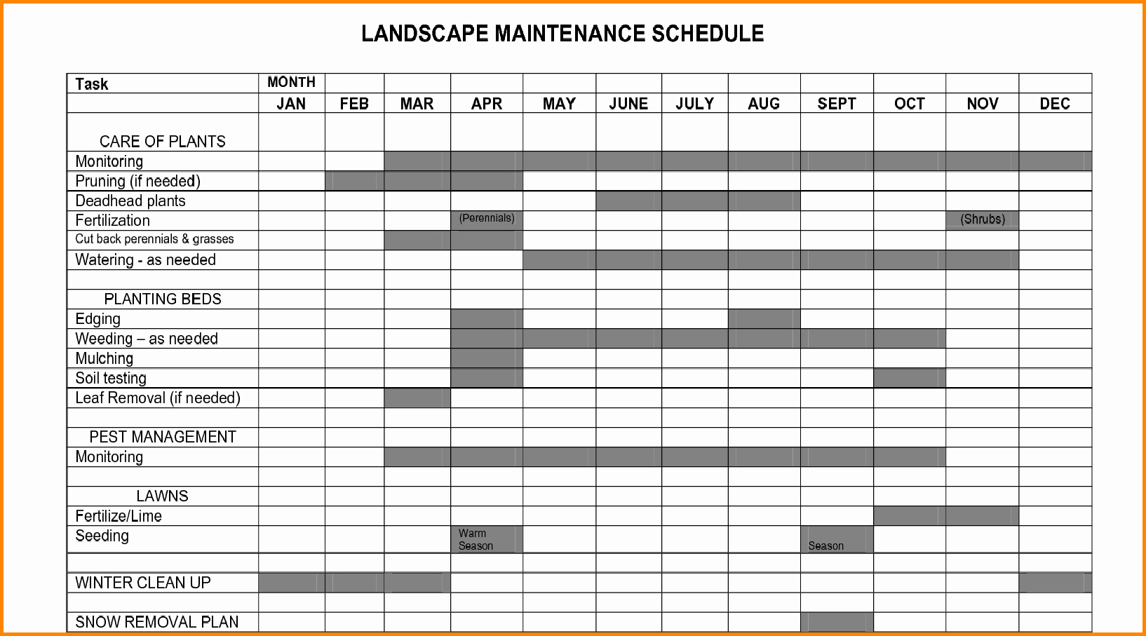 Equipment Maintenance Schedule Template Excel Best Of Plant Maintenance Schedule Template Excel – Printable