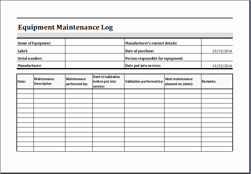 Equipment Maintenance Schedule Template Excel Elegant Pin by Microsoft Fice Templates On Microsoft Templates