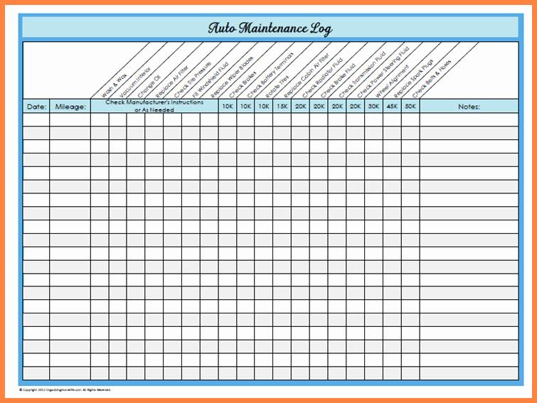 Equipment Maintenance Schedule Template Excel Unique Vehicle Maintenance Spreadsheet