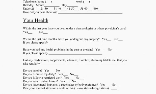 Esthetician Client Consultation form Template Fresh the Real Reason Behind