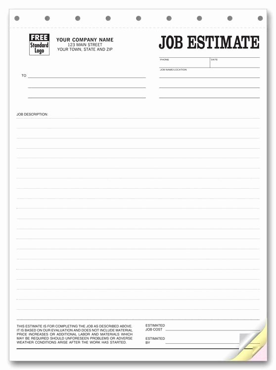 Estimate form Template Free Inspirational Printable Blank Bid Proposal forms