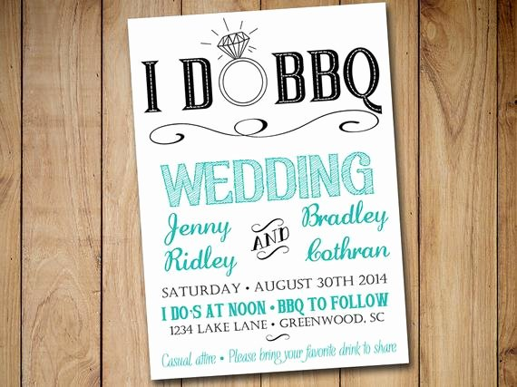 Etsy Wedding Invitation Template Beautiful I Do Bbq Wedding Invitation Template Download Blue Teal
