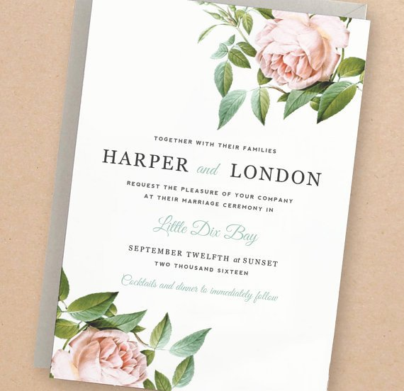 Etsy Wedding Invitation Template Luxury 13 Etsy Wedding Invite Templates