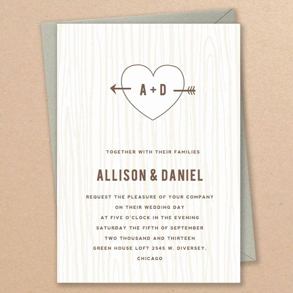 Etsy Wedding Invitation Template New Instant Download Initial Tree Diy Wedding Invitation