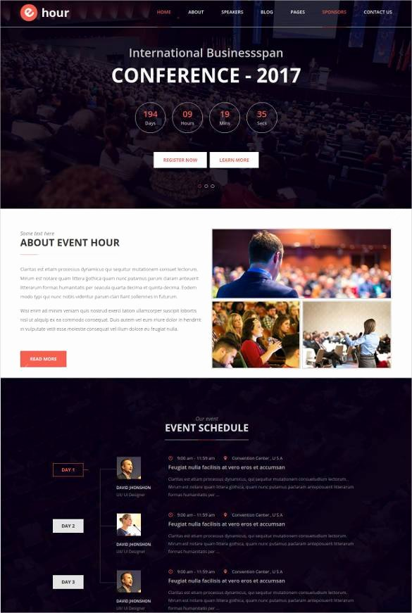 Event Planner Website Template Awesome 33 event Planning Website themes & Templates