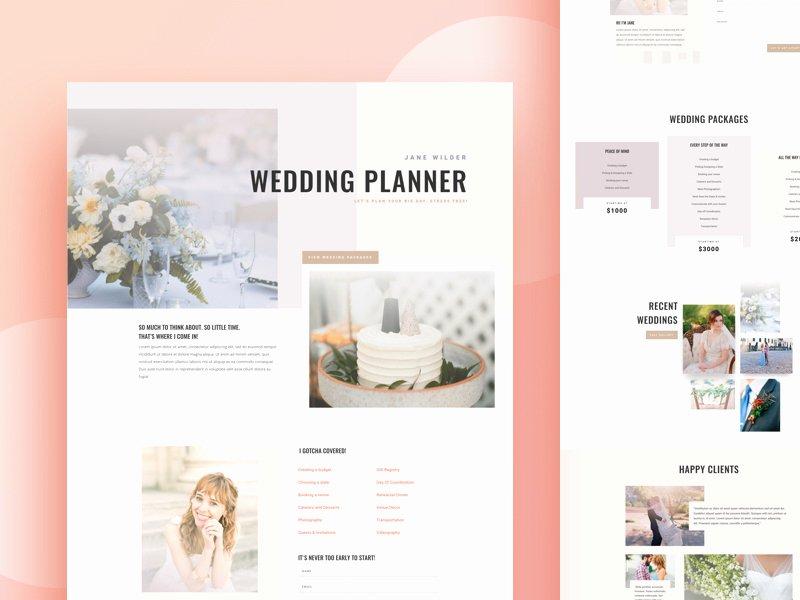 Event Planner Website Template Best Of Wedding Planner Website Template Design for Divi by