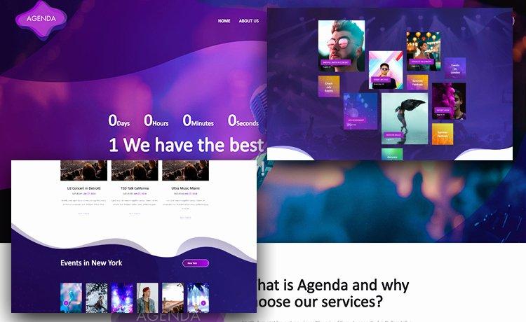 Event Planner Website Template Elegant Free event Website Template for event Planners with