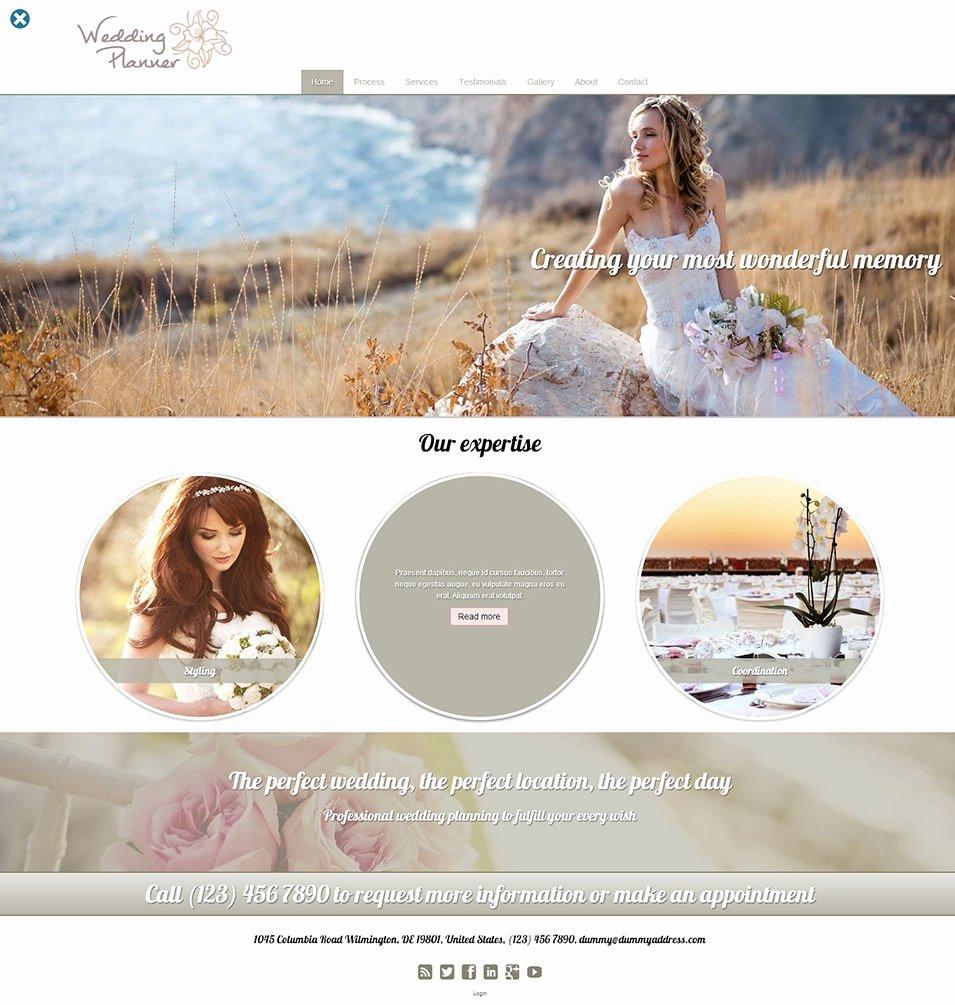 Event Planner Website Template Luxury 15 Best Wedding event Planner Website Templates