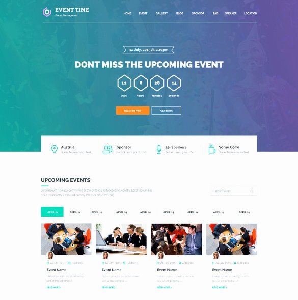 Event Planner Website Template New 33 event Planning Website themes & Templates