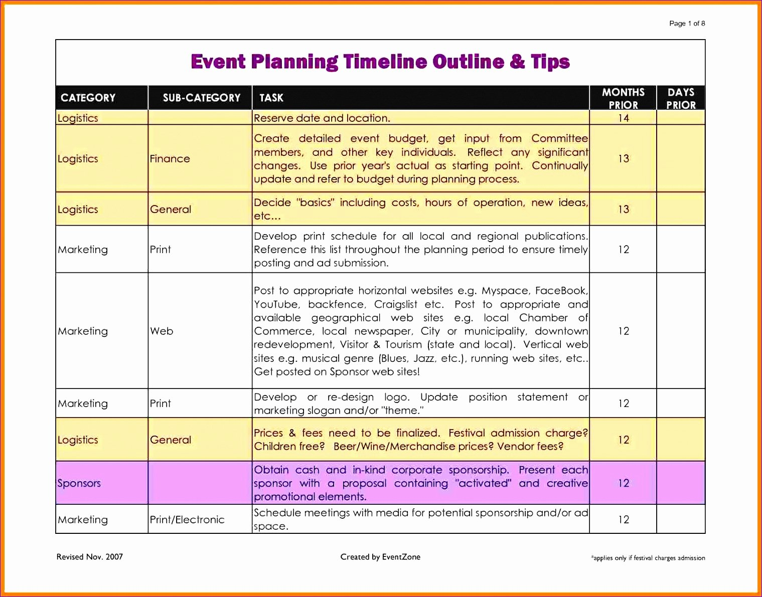 Event Planning Excel Template Lovely 8 Free event Planning Checklist Template Excel