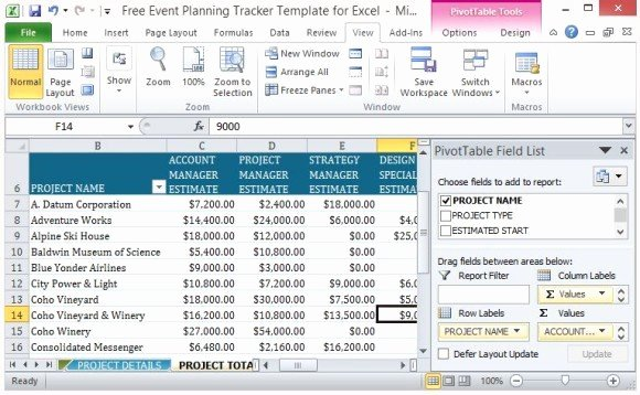 Event Planning Excel Template New Free event Planning Tracker Template for Excel