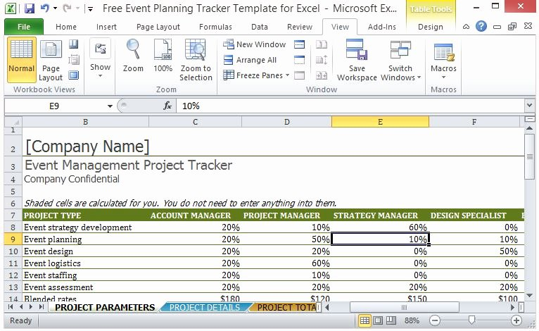 Event Planning Excel Template Unique Free event Planning Tracker Template for Excel