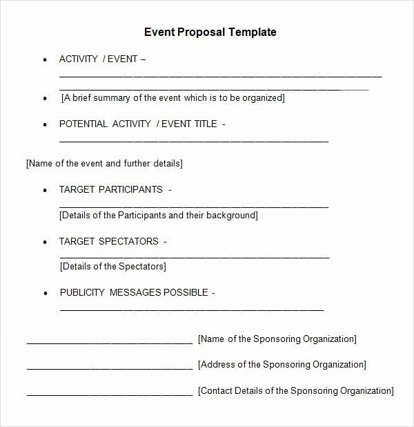 Event Planning Proposal Template Awesome 25 Sample event Proposal Templates – Psd Pdf Word