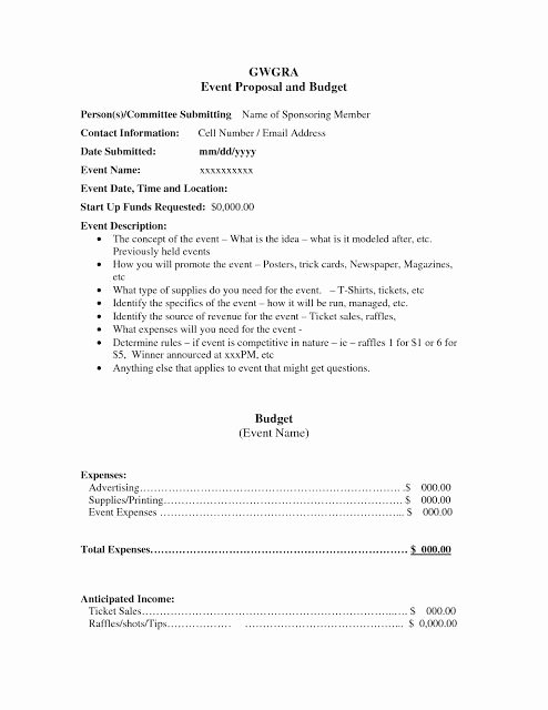 Event Planning Proposal Template Best Of Corporate event Proposal Example