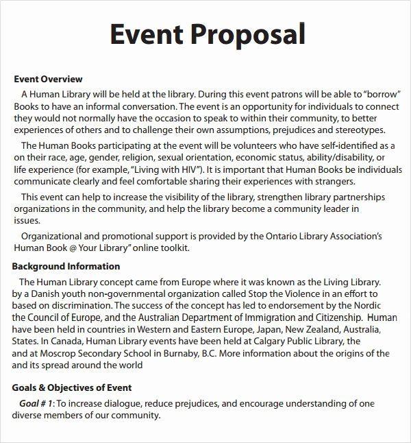 Event Planning Proposal Template Best Of event Proposal Template 16 Download Free Documents In