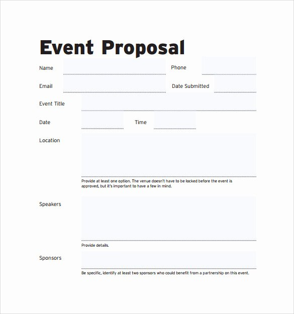 Event Planning Proposal Template Elegant Free 30 Sample event Proposal Templates Psd