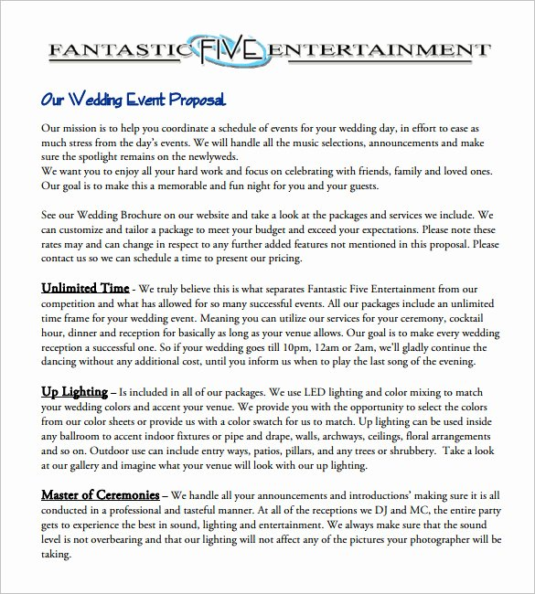 Event Planning Proposal Template Inspirational 30 event Proposal Templates Pdf Doc