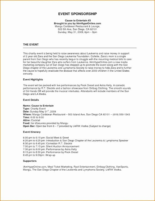 Event Planning Proposal Template Lovely event Proposal format Example