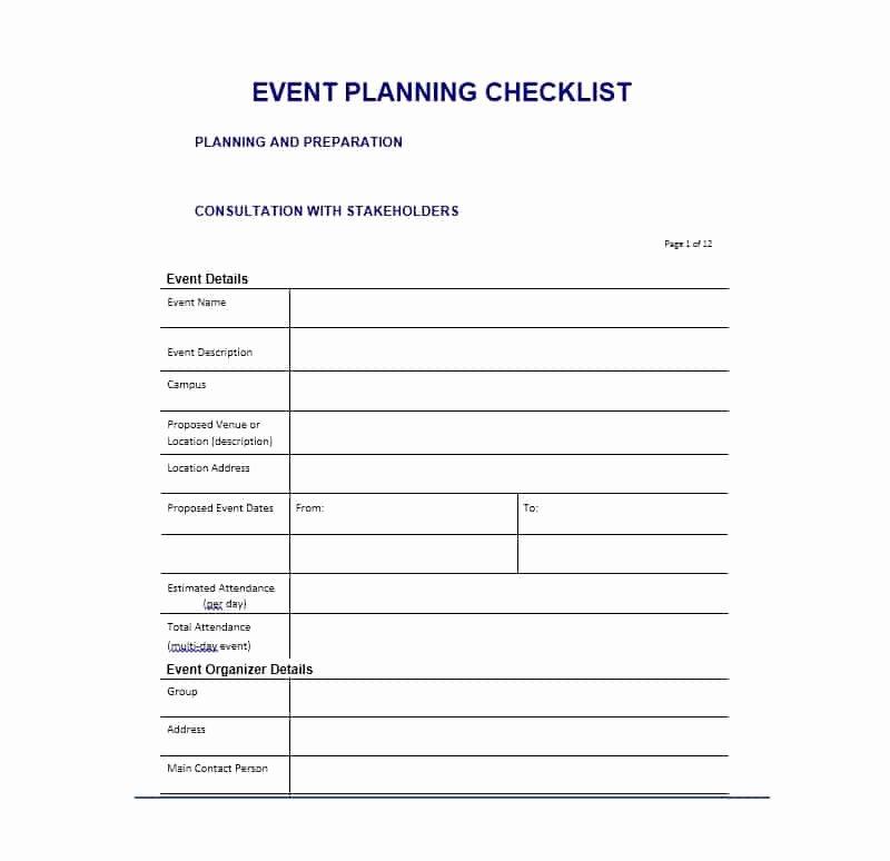 Event Planning Template Free Elegant 50 Professional event Planning Checklist Templates