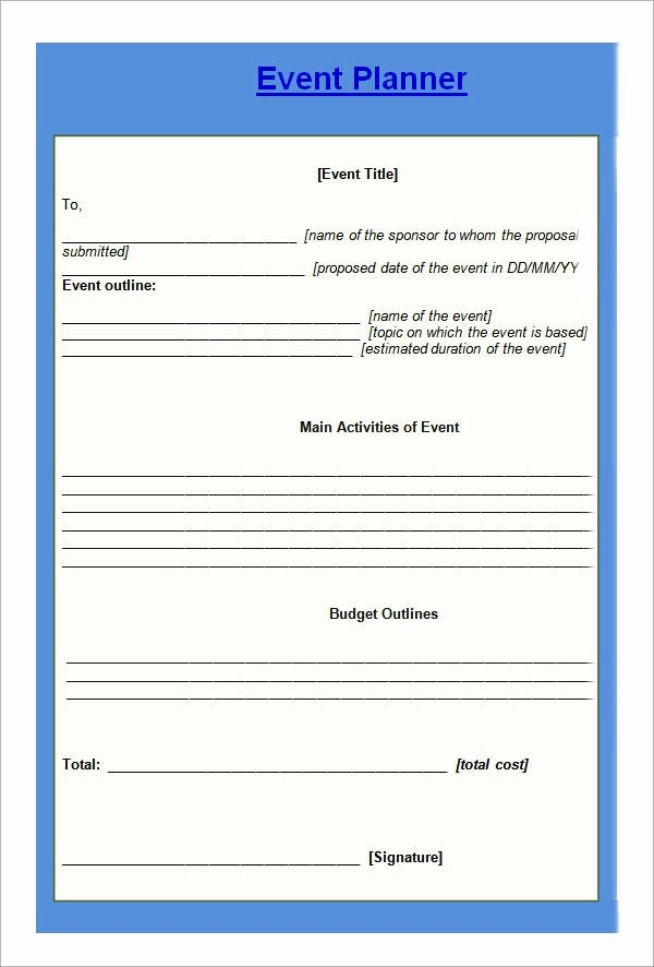 Event Planning Template Free Fresh Free 10 Sample event Planning Templates In Pdf