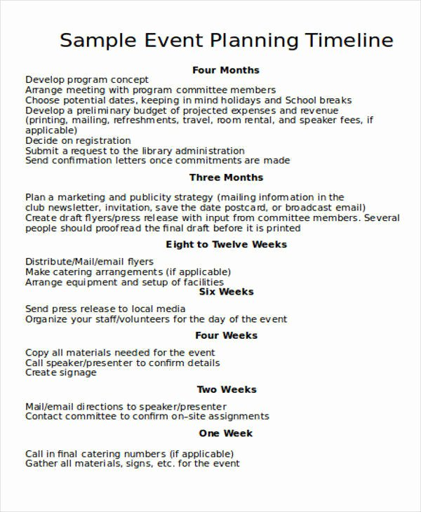 Event Planning Timeline Template Best Of 15 Timeline Templates In Word