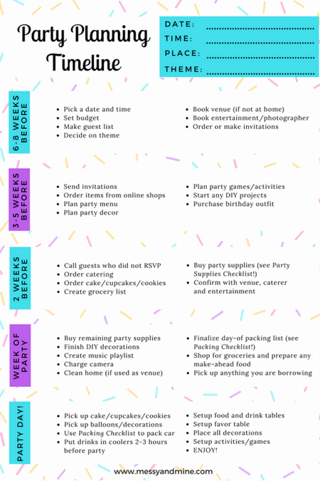 ultimate party planning checklist bundle