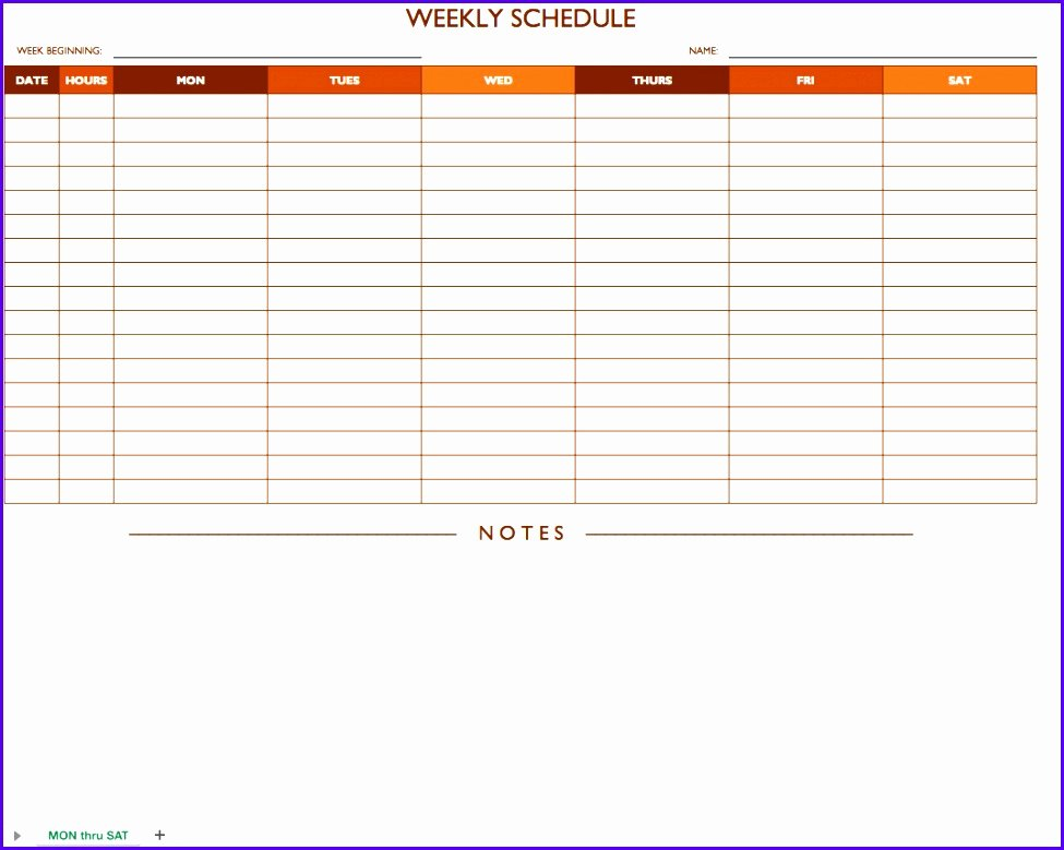 Excel Class Schedule Template Fresh 6 Excel Class Schedule Template Exceltemplates