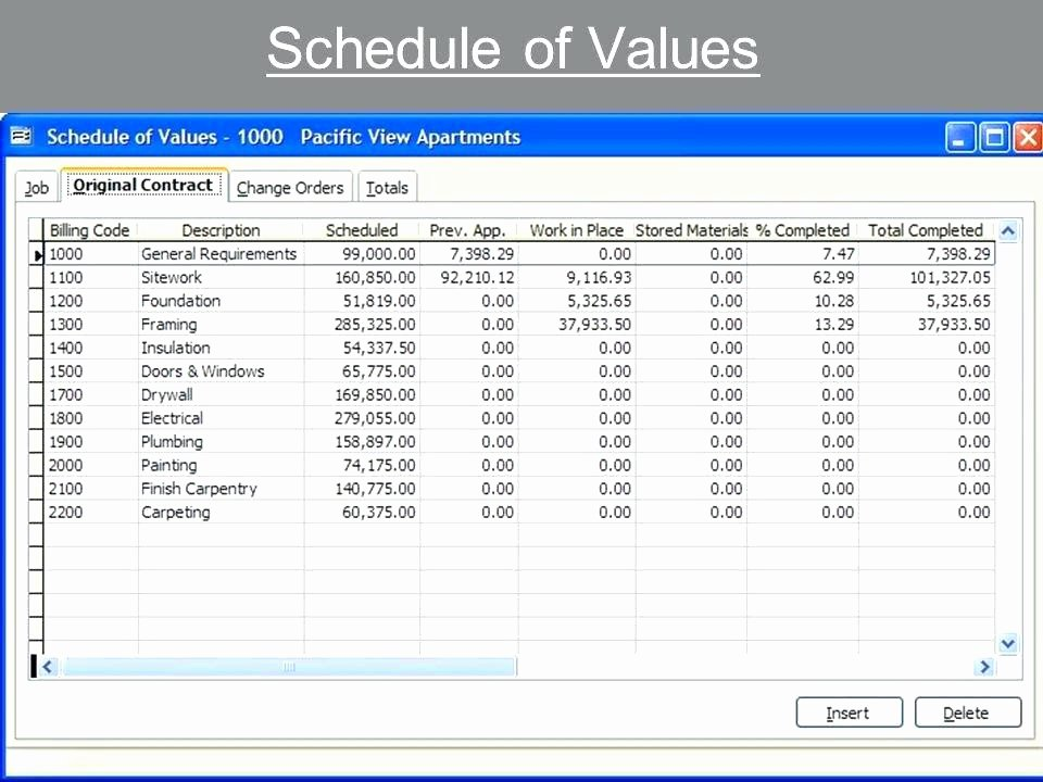 Excel Construction Schedule Template Best Of Subcontractor Schedule Values Template