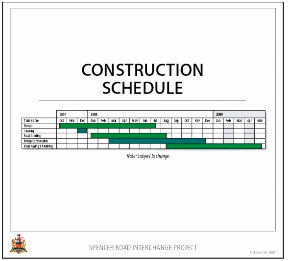 Excel Construction Schedule Template Fresh 3 New Construction Schedules Using Excel Overview Example