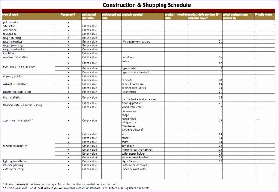 Excel Construction Schedule Template Unique 10 Construction Schedule Template Excel Free