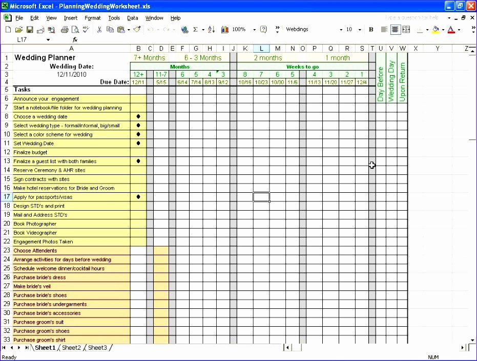 Excel event Planning Template Unique 6 event Planning Checklist Template Excel Exceltemplates