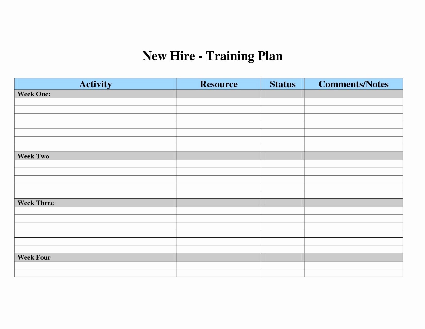 Excel Training Schedule Template Best Of Free Employee Training Matrix Template Excel New Employee