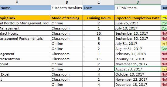 Excel Training Schedule Template Elegant Employee Training Plan Excel Template Download Free