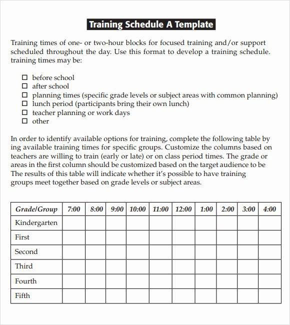 Excel Training Schedule Template Elegant Free 21 Sample Training Calendar Templates In Google Docs