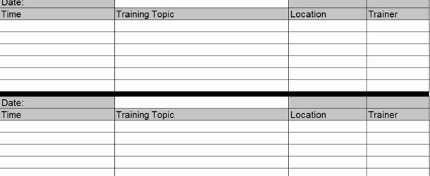 Excel Training Schedule Template Fresh Employee Training Schedule Template In Ms Excel Excel