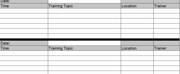 Excel Training Schedule Template Fresh Employee Training Schedule Template In Ms Excel Excel