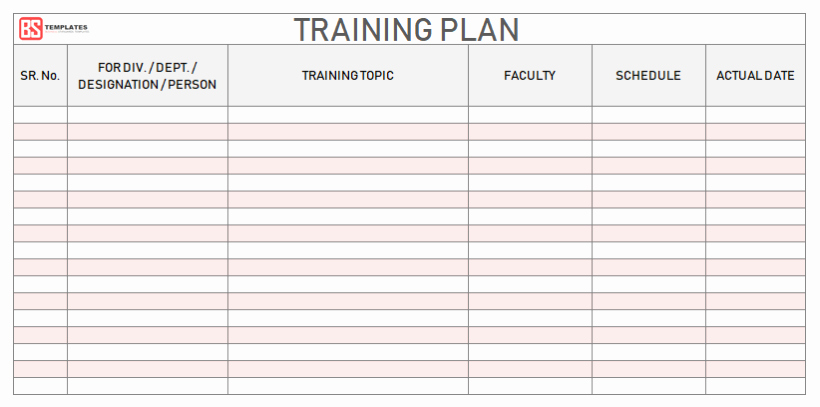 Excel Training Schedule Template Lovely Employee Training Plan Template Excel Project Annual